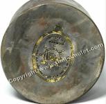 2x Gelbe Buddha Glücksarmbänder mit Takrut 9 Tage geweiht