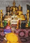 Schwarzes Buddha Glücksarmband Thai Amulett Kupfer Takrut