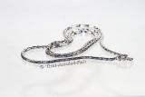 Thai Amulett Kette mit Schlangenverschluss für Damen 60 cm