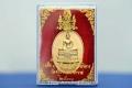Vergoldetes Thai Buddha Amulett König Bhumibol von 1988