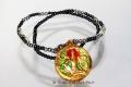 Vergoldetes Schutz & Glücks Thai Amulett mit Kette