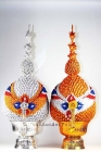 Thai Buddha Altar Set Phaan Phum Ngern Thong 30 cm