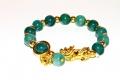 Geweihtes Buddha Jade Glücks- und Schutzarmband Thai Amulett